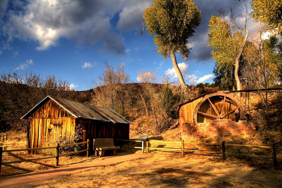 Cresent Moon Park by Bud Walley - Buildings & Architecture Public & Historical ( park, arizona, state, generator, cresent moon, sedona, hydro )