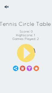 Tennis Circle Table - screenshot