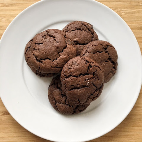 Soft & Chewy Double Chocolate Chunk Cookies