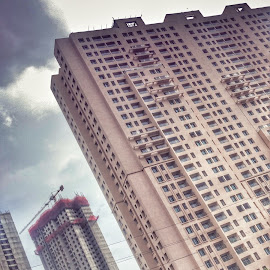 Buildings by Pravin Lelin - Buildings & Architecture Office Buildings & Hotels ( #buildings #architectures #construction #sky #clouds #tall )