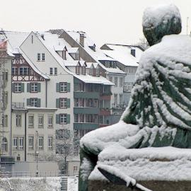 Basel in Winter by Randi Hodson - City,  Street & Park  Neighborhoods ( basel, snow, switzerland )