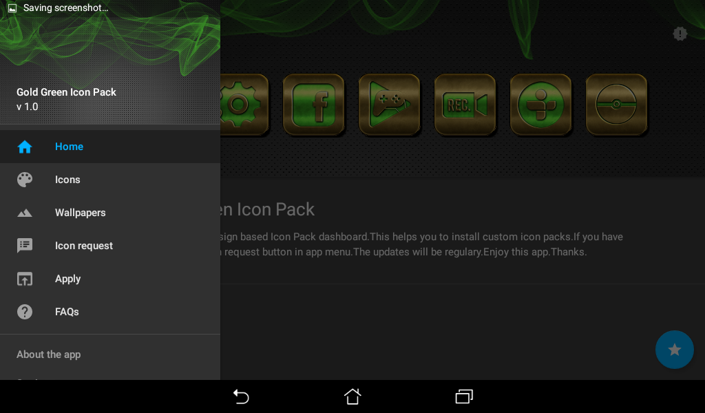 Gold Green Icon Pack Screenshot 5