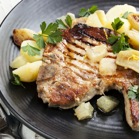 Pork Chops and Apple Bourbon Sauce