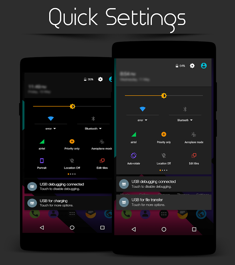 Colors Dark - CM12.1/13 Theme Screenshot 2