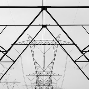 Power Lines by Jean Photo-Vigneault - Abstract Fine Art