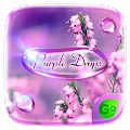 Purple Drops GO Keyboard Theme APK for Bluestacks