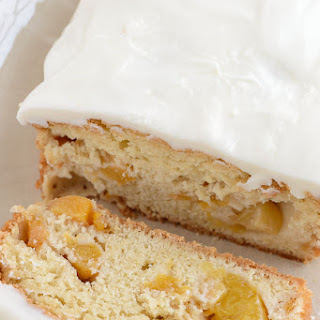 Peach Pound Cake with Cream Cheese Frosting