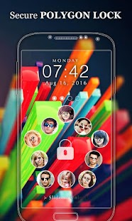 Photo Lock Screen Polygon - screenshot