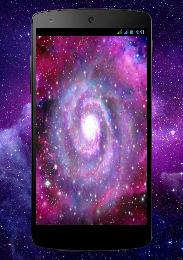 Galaxy Pro Live Wallpaper Screenshot 4