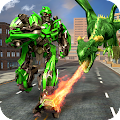 Flying Dragon Robot Transform City Rescue APK for Kindle Fire
