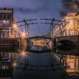 Canal Schiedam city Netherlands  by Henk Smit - City,  Street & Park  Historic Districts