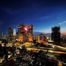 Before midnight by Fabianus Duddy - City,  Street & Park  Night