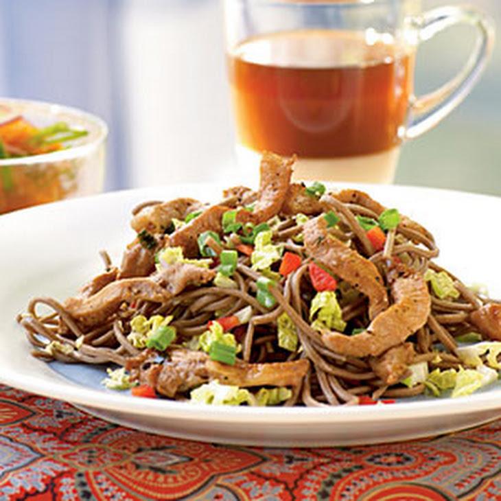 Cold Soba Noodles with Vietnamese Pork