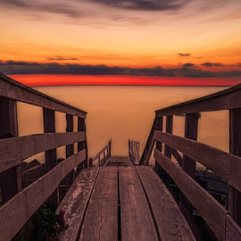 The Stairs Down by Matt Reynolds - Landscapes Sunsets & Sunrises