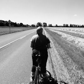 Why Me? by Che Dean - Transportation Bicycles ( grass, bicycling, cycling, summer, fields )