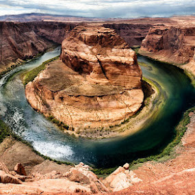 Afternon at Horseshoe Canyon by Buddy Eleazer - Landscapes Deserts ( az, page )