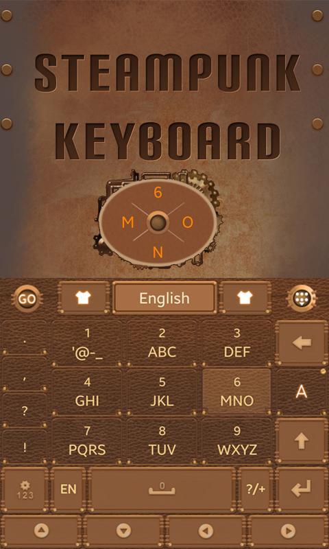 Steam-Punk-GO-Keyboard-Theme 7