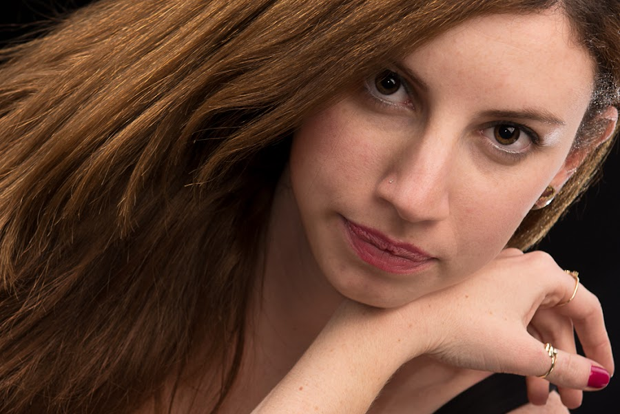 Shelly by Idan Presser - People Portraits of Women ( ortal, studio, dress, diagonal, smile, eyes )