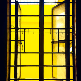 Window by James Ramirez - Buildings & Architecture Architectural Detail ( window, art, architectural detail, architecture, yellow )