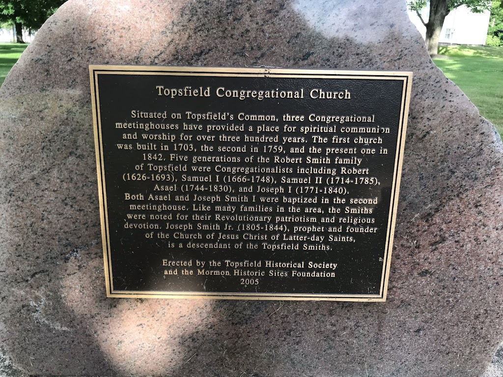 Topsfield Congregational Church Situated on Topsfield's Common, three Congregational meetinghouses have provided a place for spiritual communion and worship for over three hundred years. The first ...