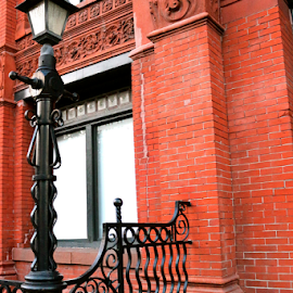 Wrought Iron Beauty by Barbara Suggs - Buildings & Architecture Architectural Detail