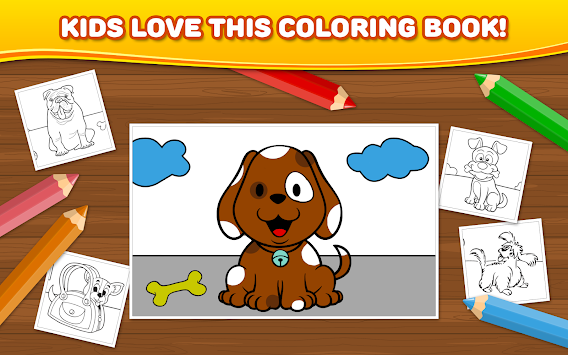 Dogs Children Coloring Book APK 11