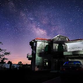 Milkyway as seen in Gujrat by XeeShan Ch - Landscapes Starscapes ( milkyway, pakistan, gujrat, xeeshan, long exposure, milkyway in gujrat )