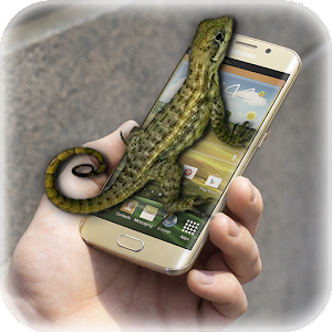 Lizard in phone