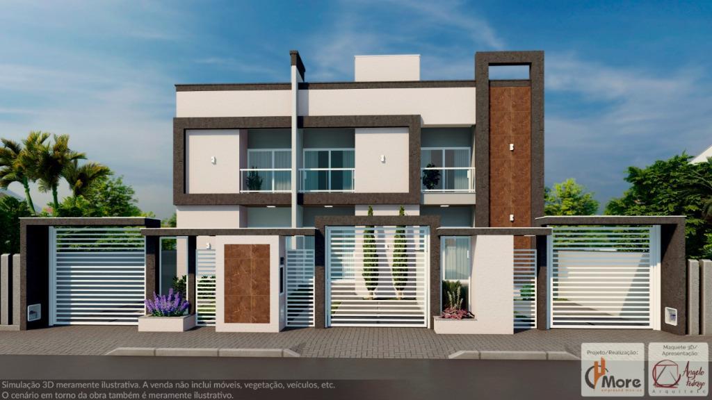 Sobrados com 2 dormitórios à venda, 71 m² a partir de R$ 199.900 - XV de Novembro - Tijucas/SC