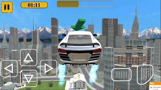 Flying Racing Car City Racer - screenshot