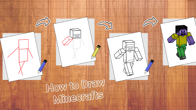 Learn To Draw Minecraft By Aston Developer APK screenshot thumbnail 1