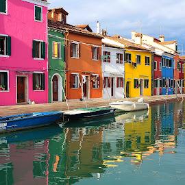 Patchwork de couleur by Gérard CHATENET - City,  Street & Park  Street Scenes