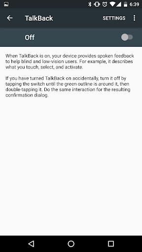 Google TalkBack screenshot 3