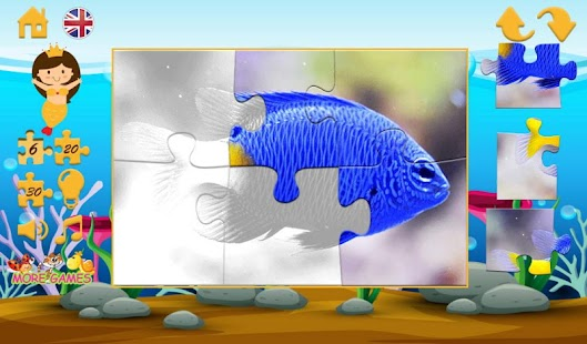 Puzzles with small fishes - screenshot