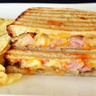 Caramelized Onion Ham and Cheese Panini