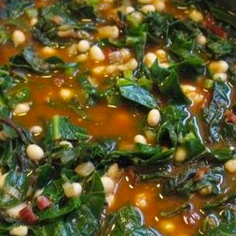 Tomato, Collards, and Bean Soup