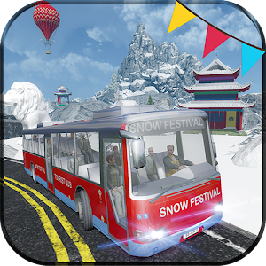 Snow Festival Hill Tourist Bus