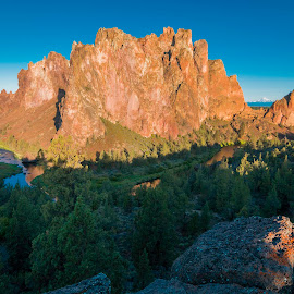 Smith Rock by Steven McCarthy - Landscapes Mountains & Hills ( rock climbing, oregon, bend, smith rock, sunrise )