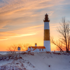 Big Sable Point Lighthouse #1 by Jebark Fineartphotography - Buildings & Architecture Public & Historical ( shore, michigan, dunes, lighthouse, signal, lake, architecture, historical, beacon, nautical )