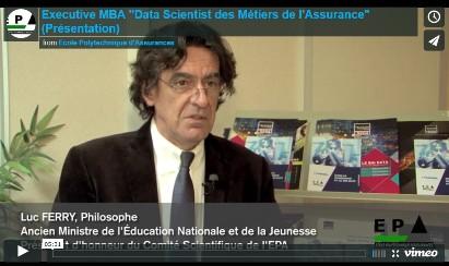 """Vidéo de présentation de l'Executive MBA """"Data Scientist des Métiers de l'Assurance"""""""