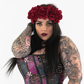 Stella by Dunstan Vavasour - People Body Art/Tattoos ( tattooed, model, tattoos, corset, inked, beautyspot, corsetry, modelling, tattoo, tattooing )