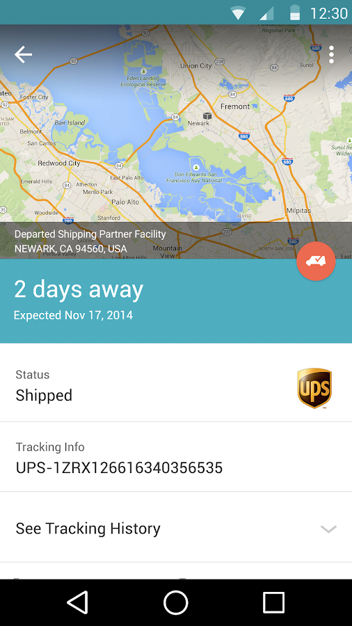 Slice: Package Tracker Screenshot 1
