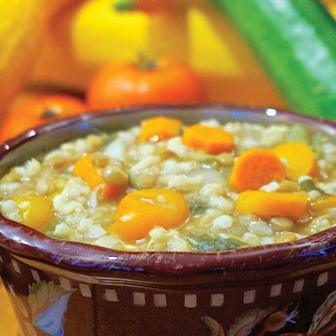 Lentil, Brown Rice and Carrot Stew
