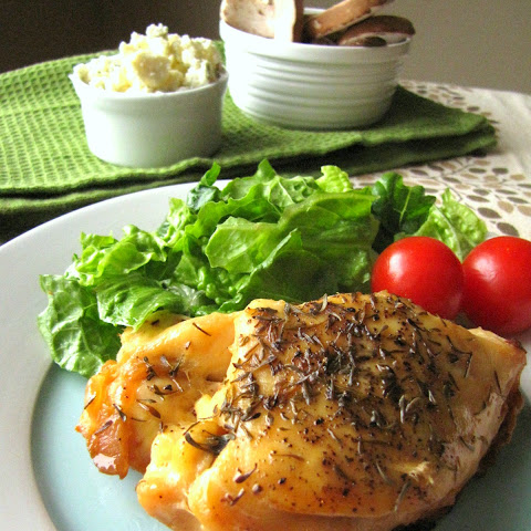 Slow Cooker Stuffed Chicken Breasts with Gorgonzola and Mushrooms