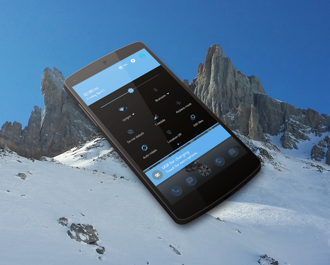IcyPeak CM13 CM12 Theme Screenshot 2