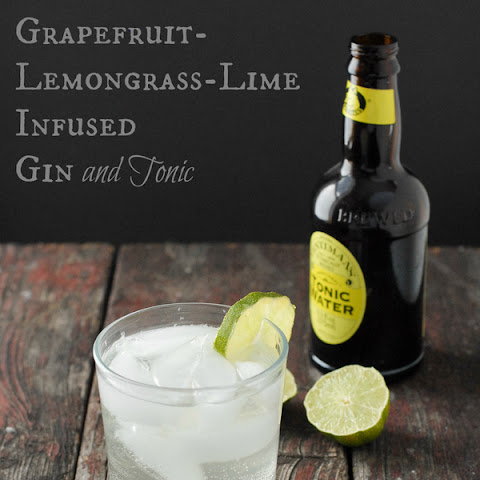 Grapefruit-Lemongrass-Lime Infused Gin and a Gin & Tonic cocktail