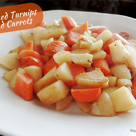 Glazed Turnips and Carrots