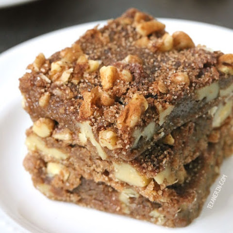 Cinnamon Walnut Blondies (100% whole grain, dairy-free)