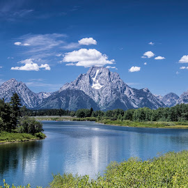 Oxbow Bend Tetons by Mary Malinconico - Landscapes Mountains & Hills ( grand tetons ! )
