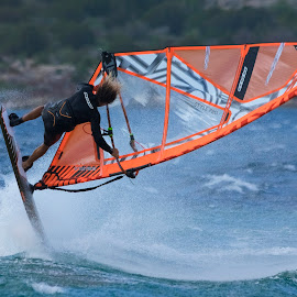 Jump by Maurizio Mameli - Sports & Fitness Watersports ( watersport, wind, sardinia, rrd, sea, seascape, windsurf )